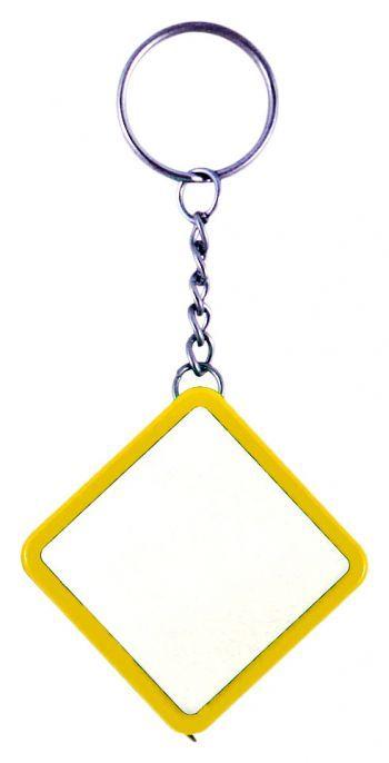 Брелок-рулетка «Ромб», желтый