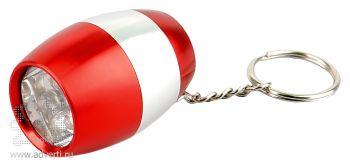 Брелок-фонарик «Боллен», красный