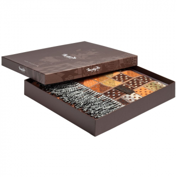 Плед Illinois, коричневый, в коробке