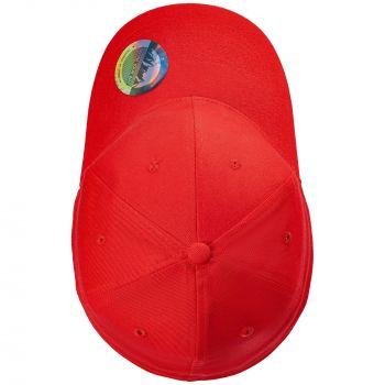 Бейсболка «Beinn Eighe», красная, вид сверху