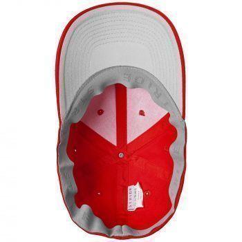 Бейсболка «Beinn Eighe», красная, вид изнутри