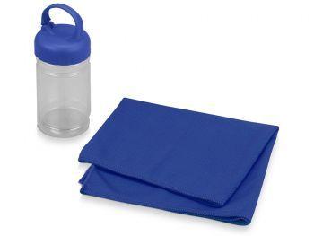 Подарочный набор «Klap», синий, полотенце для фитнеса