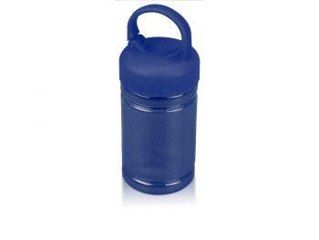 Подарочный набор «Klap», синий, контейнер для полотенца