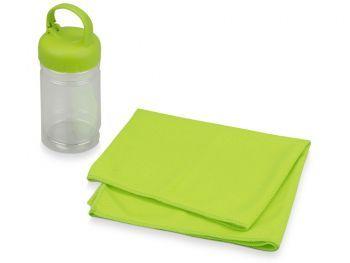 Подарочный набор «Klap», зеленый, полотенце для фитнеса