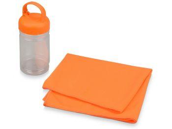 Подарочный набор «Klap», оранжевый, полотенце для фитнеса