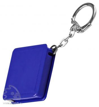 Брелок-рулетка «Квадрат», синий