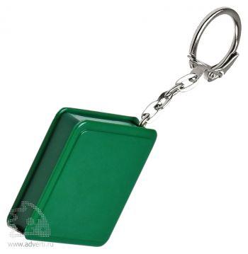 Брелок-рулетка «Квадрат», зеленый