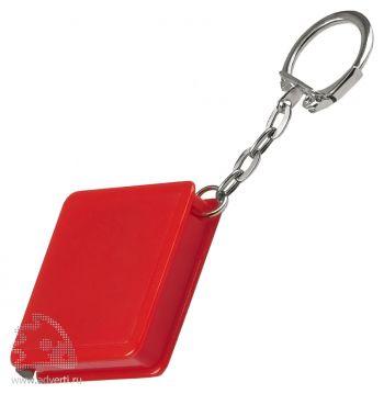 Брелок-рулетка «Квадрат», красный