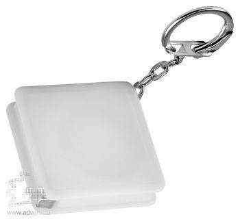 Брелок-рулетка «Квадрат», белый