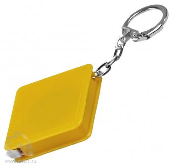 Брелок-рулетка «Квадрат», желтый