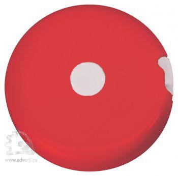 Брелок-рулетка «Кнопка», красная
