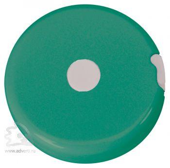 Брелок-рулетка «Кнопка», зеленая