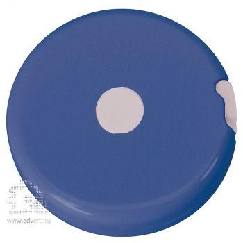 Брелок-рулетка «Кнопка», синяя