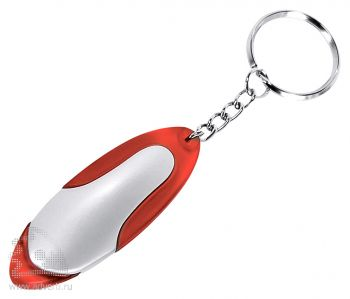 Брелок-фонарик «Филк» со светодиодом, красный