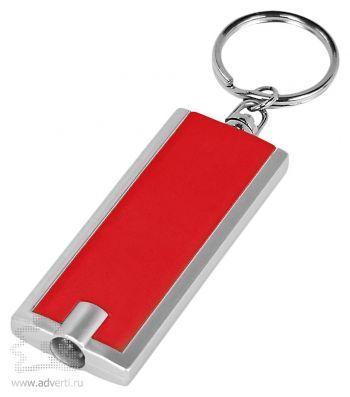Брелок-фонарик «Дельта» со светодиодом, красный