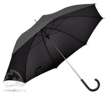 Зонт с пластиковой ручкой, механический, черный