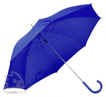Зонт с пластиковой ручкой, механический, синий