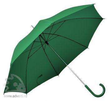 Зонт с пластиковой ручкой, механический, зеленый