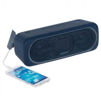 Беспроводная колонка Sony SRS-40, синяя, пример использования