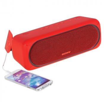 Беспроводная колонка Sony SRS-40, красная, пример использования