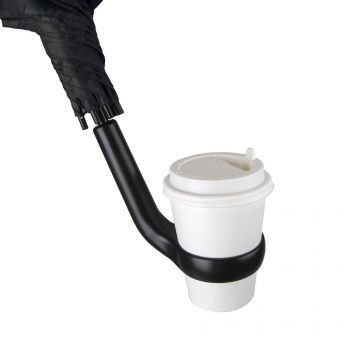 Зонт-трост «Liverpool» с ручкой-держателем, полуавтомат, пример использования