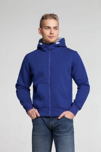 Толстовка «Kulonga Heavy Zip», мужская, синяя, пример носки
