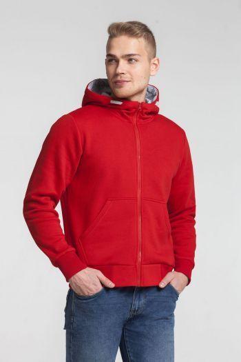 Толстовка «Kulonga Heavy Zip», мужская, красная, пример носки