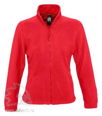 Куртка «North Women 300», женская, Sol's, Франция, красная