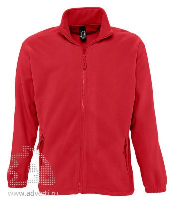 Куртка «North Men 300», мужская, Sol's, Франция, красная