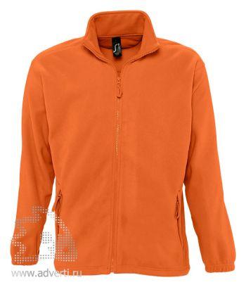 Куртка «North Men 300», мужская, Sol's, Франция, оранжевая