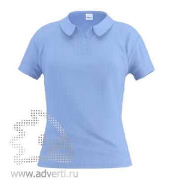 Рубашка поло «Stan Women», женская, голубая