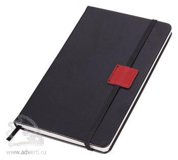 Блокнот «Label», черный с красным