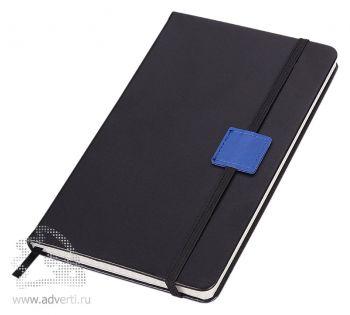 Блокнот «Label», черный с синим