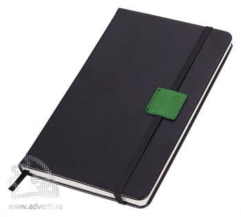 Блокнот «Label», черный с зеленым