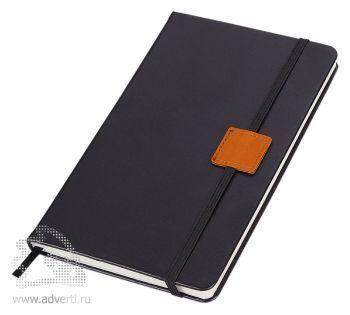 Блокнот «Label», черный с оранжевым