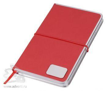 Блокнот А5 «Silver Rim», красный с шильдом
