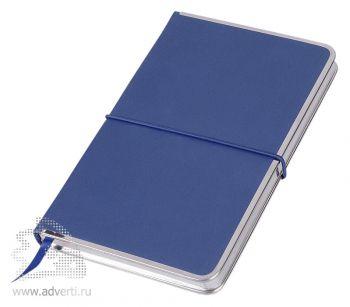 Блокнот А5 «Silver Rim», синий