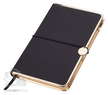 Блокнот А5 «Color Rim», черный с золотым