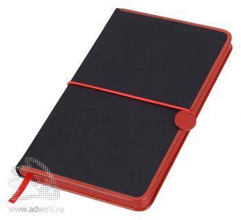 Блокнот А5 «Color Rim», черный с красным