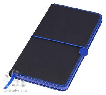 Блокнот А5 «Color Rim», черный с синим