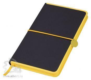 Блокнот А5 «Color Rim», черный с желтым