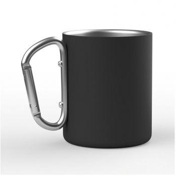 Кружка с карабином «Юта», чёрная
