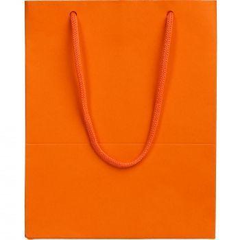 Пакет бумажный «Ample S», оранжевый, вид спереди