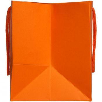 Пакет бумажный «Ample S», оранжевый, вид сбоку