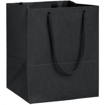 Пакет бумажный «Ample S», чёрный