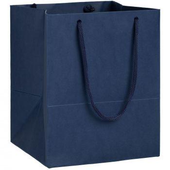 Пакет бумажный «Ample S», синий