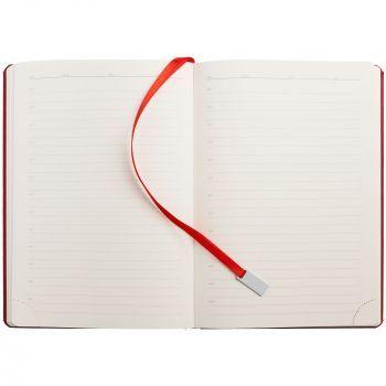 Ежедневник «Ever», недатированный, красный, внутренний блок