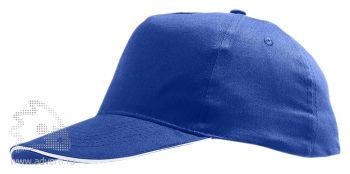 Бейсболка «Sunny 2», синяя с белым