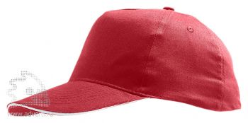 Бейсболка «Sunny 2», красная с белым