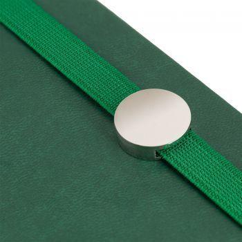 Ежедневник «Coach», недатированный, зелёный, резинка